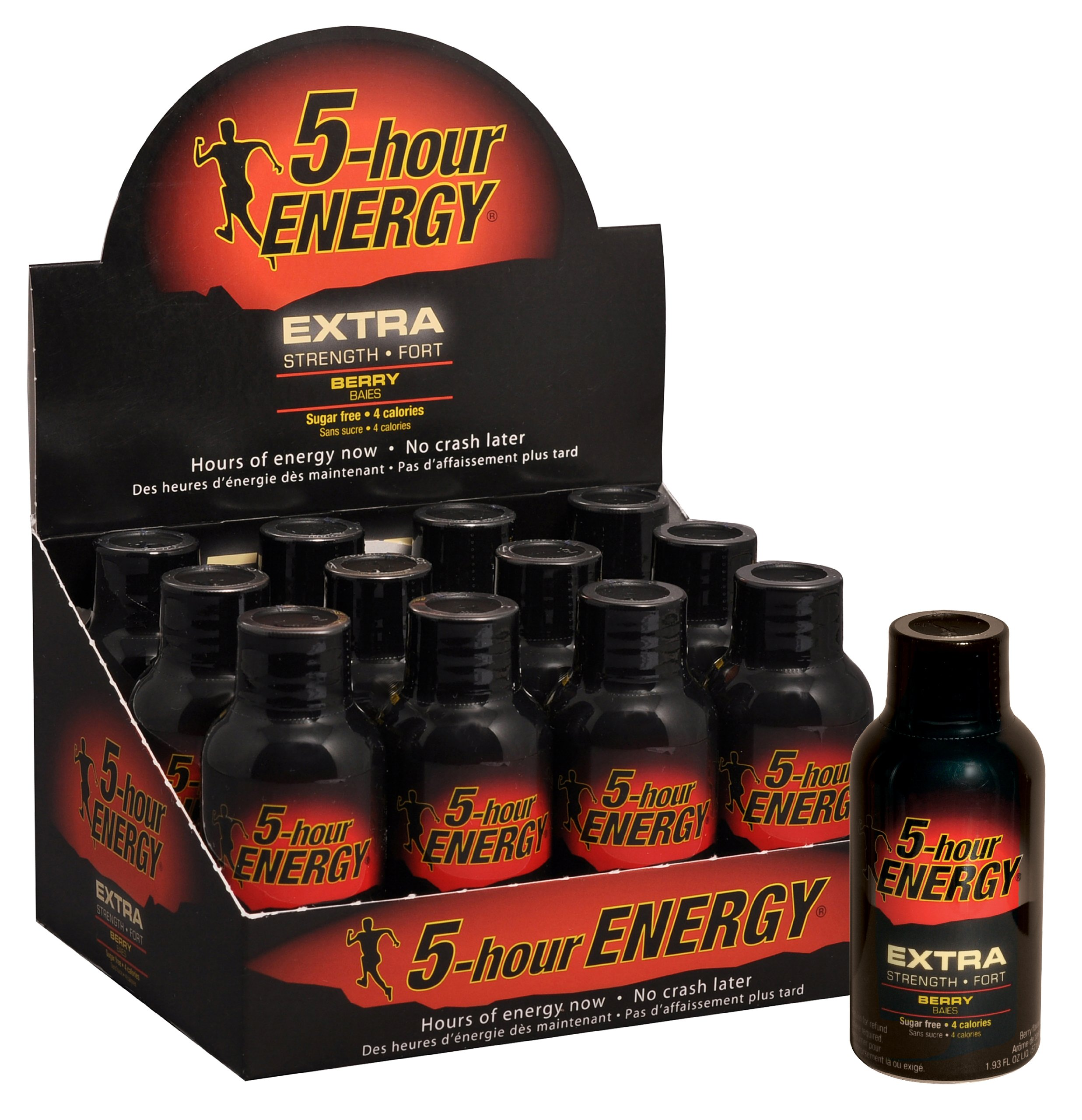 12 Pack of 5 Hour Energy and 12 Pack of 5 Hour Extra Strength, Combo Pack, 1.93 Fluid Ounces Box (Pack of 24) by 5 Hour Energy (Image #5)
