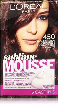 LOreal Paris Sublime Mousse Coloración Permanente 450 Caoba Profundo Cautivador