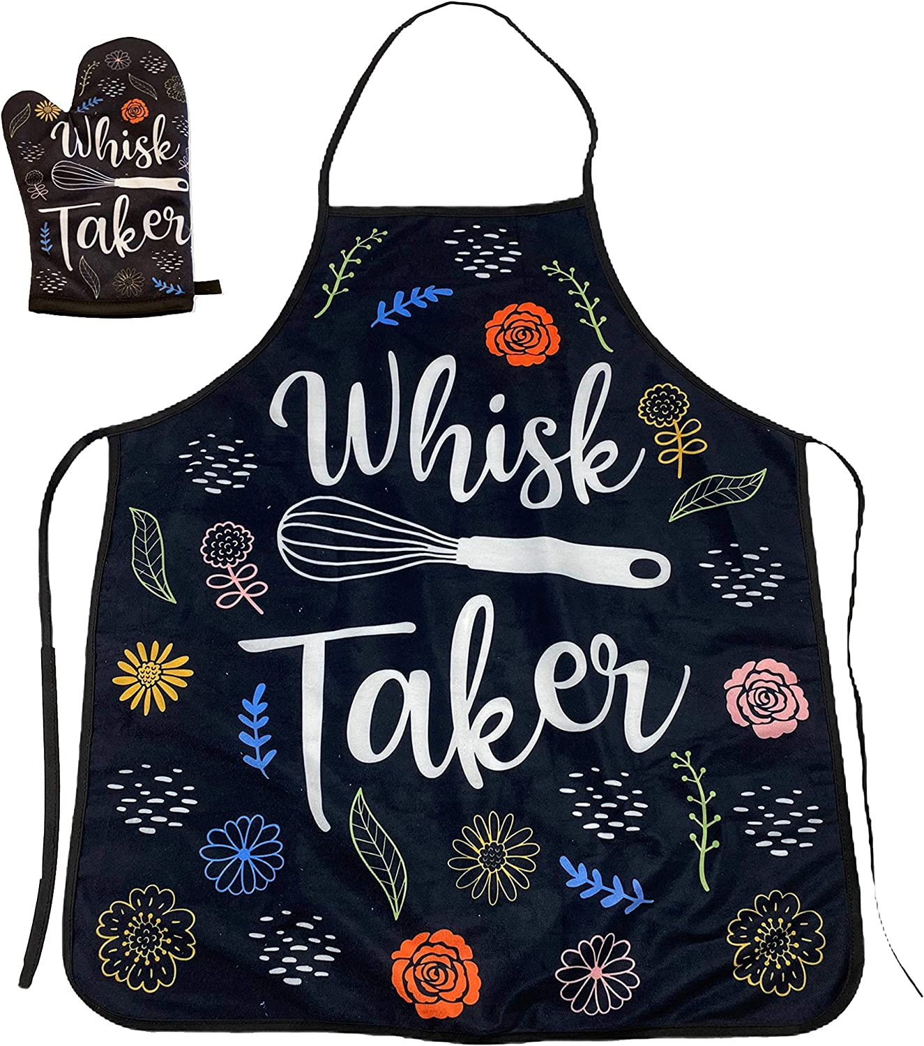 Crazy Dog T-Shirts Whisk Taker Funny Kitchen Cooking Baking Graphic Novelty Kitchen Accessories (Oven Mitt + Apron)