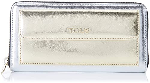 Tous Billetera Grande Essence, Cartera para Mujer, Multicolor (Plata/Oro),