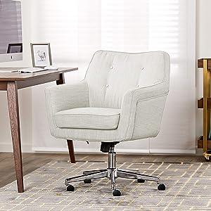 "Serta ""Ashland"" Home Office Chair, Cozy Ivory"