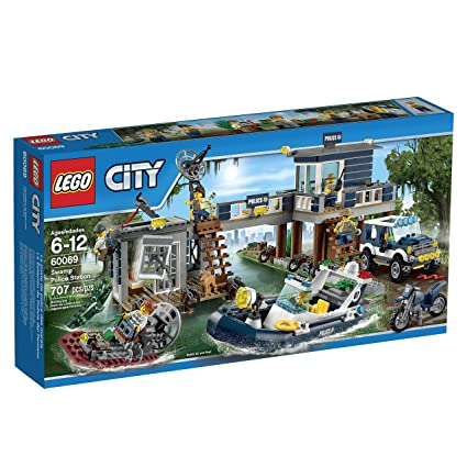 Amazon Lego City Police Swamp Police Station Toys Games