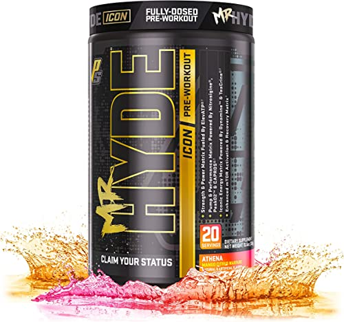 ProSupps Mr. Hyde Icon, Intense High Powered Energy, Focus Pump, Premium Pre-Workout Powder, 20 Servings, Athena Mango Citrus