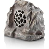 Alpine Corporation Waterproof Bluetooth Rock Speaker - Solar-Powered Outdoor Wireless Speaker for Patio, Pool, Deck, Garden -