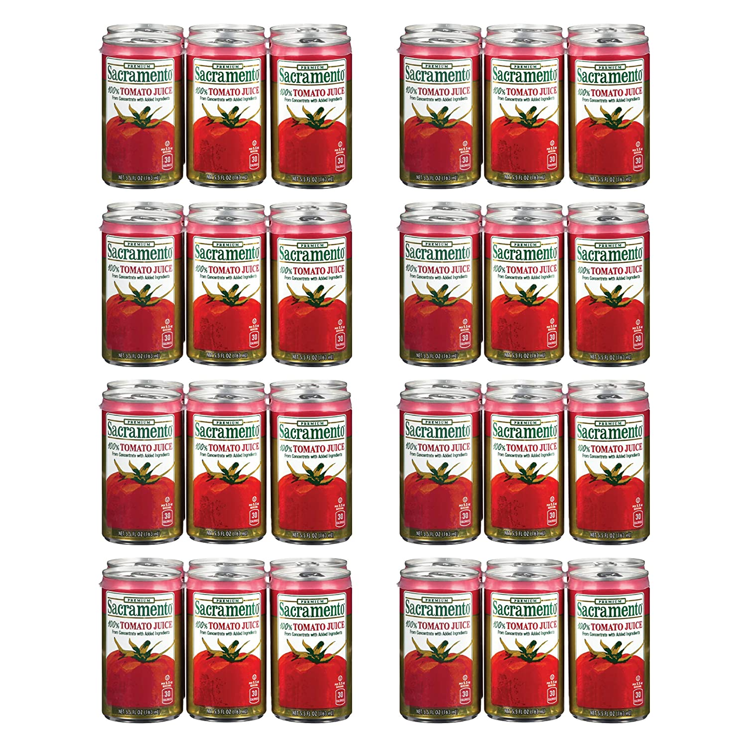 Sacramento Tomato Juice, No Added Sugar, No High Fructose Corn Syrup, 5.5 Ounce Cans, 48-Pack