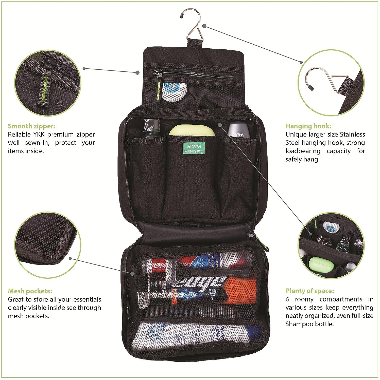 Amazon.com   Hanging Toiletry Bag For Men Makeup Travel Organizer Full Size  Shampoo 9ab0fd4d0113d