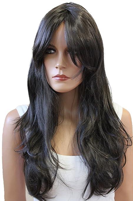 PRETTYSHOP Parrucca da donna Fashion Capelli Lunghi Lisci capelli lunghi  mossi cosplay spettacolo discoteca vari colori  Amazon.it  Bellezza aed7c9b33b20