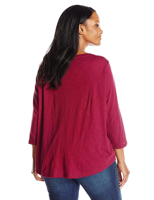 Riders by Lee Indigo Womens Plus-Size Sassy 3//4 Sleeve Knit Shirt
