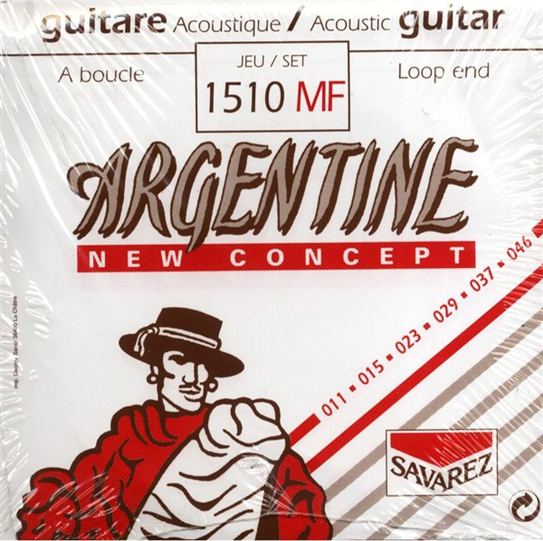 Savarez 668737 - Cuerdas para Guitarra Acústica Argentine juego Light con lazada 1510MF