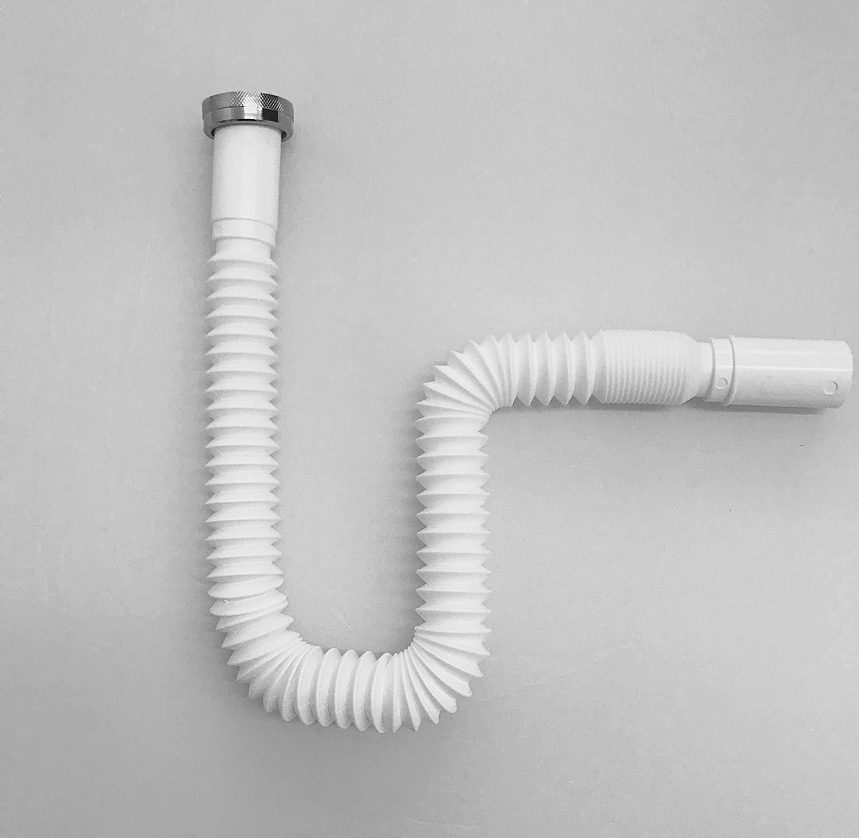 Cool AQUASHINE || Flexibler Ablaufschlauch für Waschbecken und Spüle  ZO94