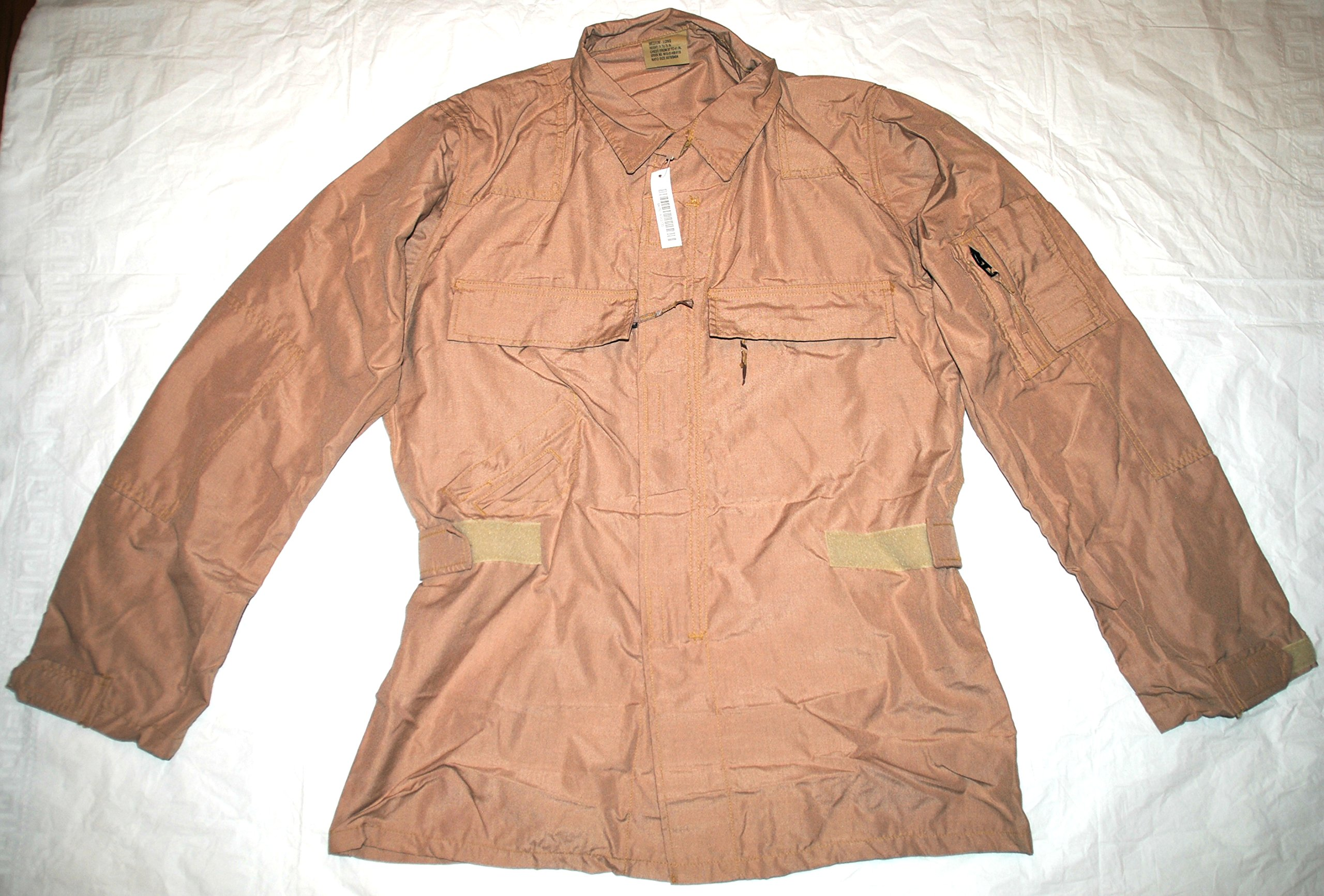 Genuine Usaf Nomex Fire Resistant Desert Flyers Aricrew Top - Medium Long by DJ MANUFACTURING