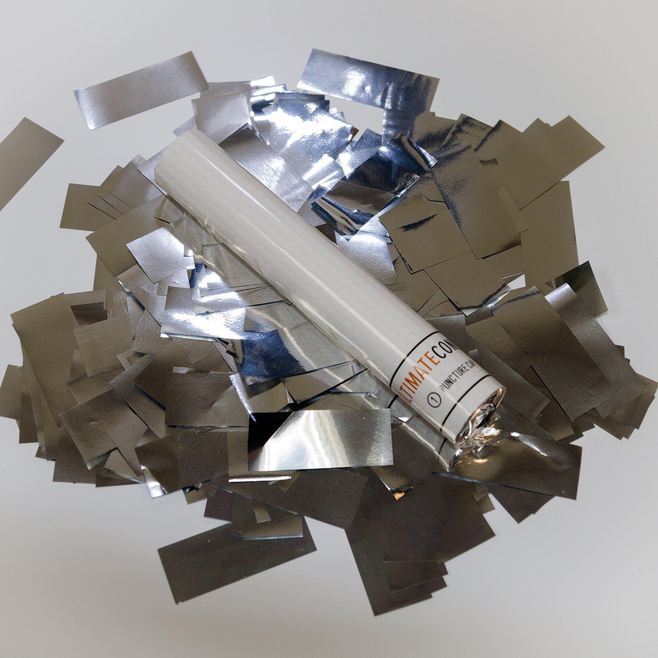 9 pk 6'' Silver Metallic Flick Sticks Wand Biodegradable