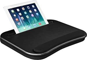 LapGear Smart-e Lap Desk - Black Carbon - Fits up to 15.6 Inch laptops and Most Tablet Devices - Style No. 91338