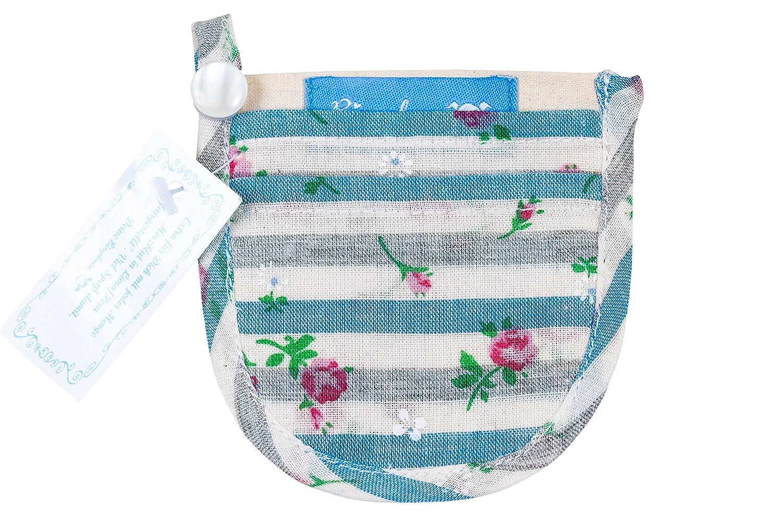 Mini Geldbö rse Portemonnaie fü r den BH Damen Mä dchen Blumen Streifen 9 x 8, 5 cm Baumwolle Fairtrade Ringelsuse BH-TB-22