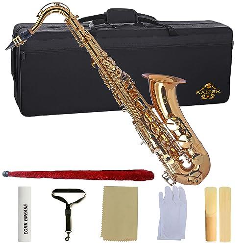 Kaizer Tenor Saxophone B Flat Bb Gold Lacquer TSAX-1000LQ