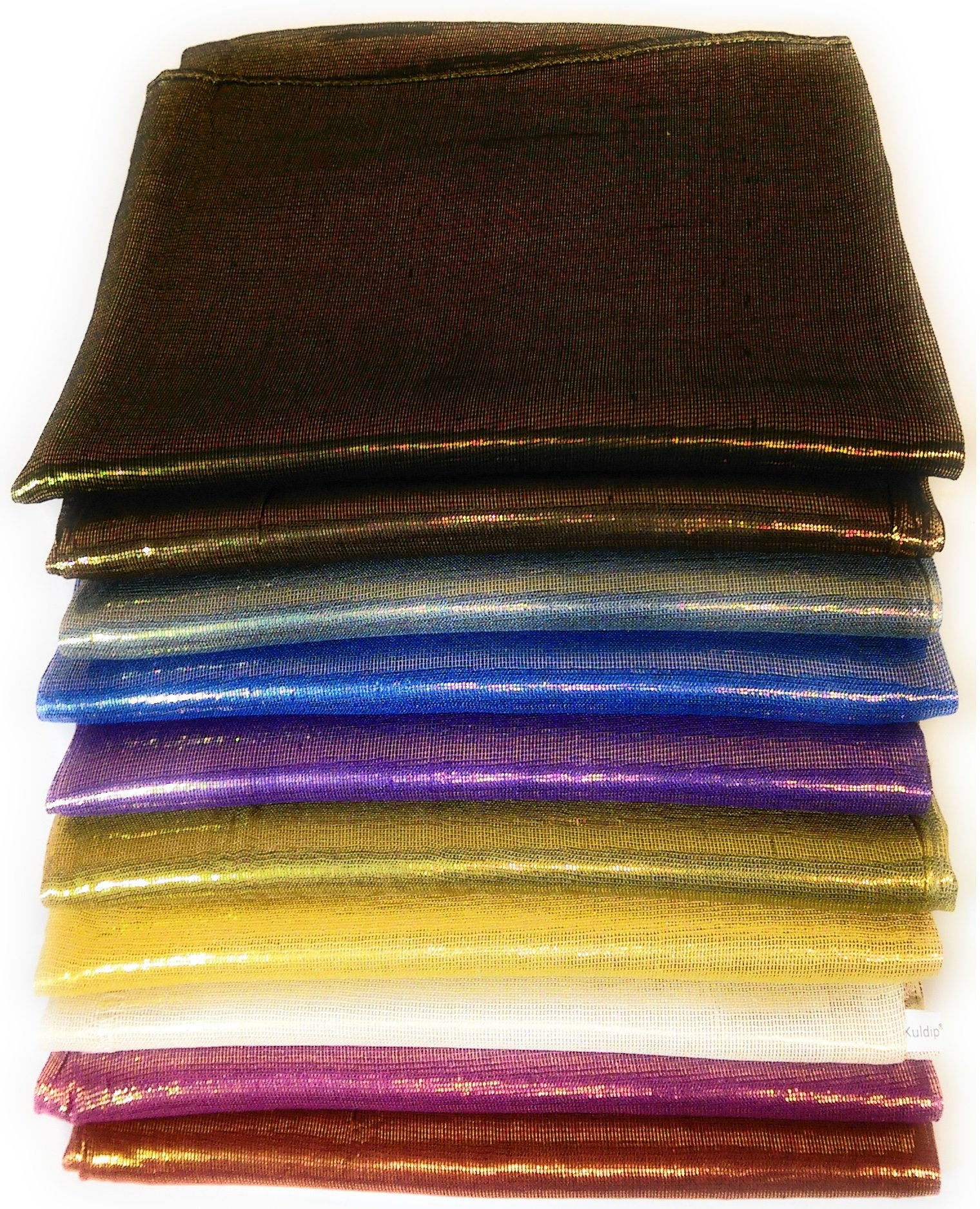 Kuldip Two Tone Shine Pashmina Style Scarf Shawl Wrap Throw. Mixed Colors. (Pack of 50).