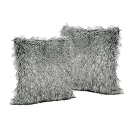 Amazoncom Laraine Furry Glamdark Grey And Light Grey Streak Faux
