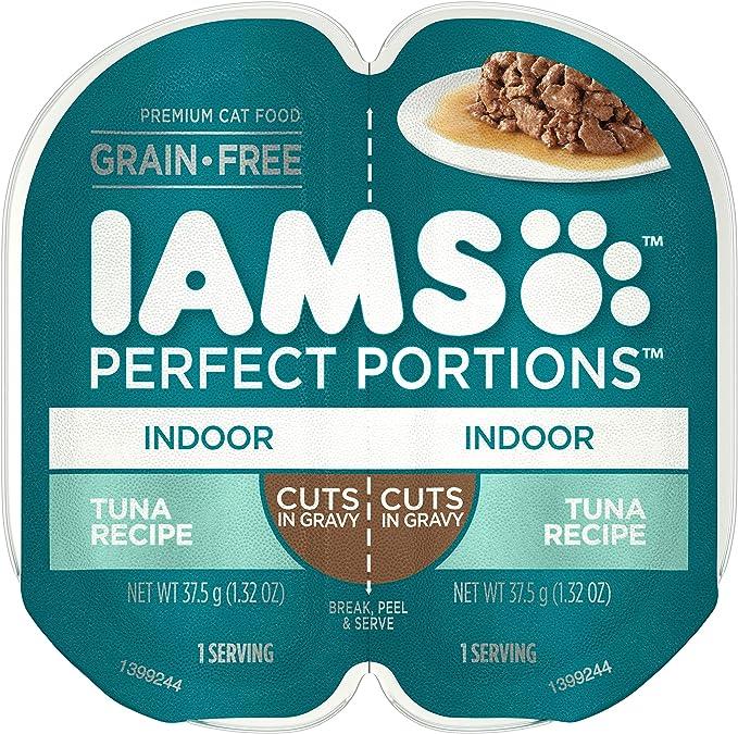 Amazon.com : IAMS Perfect Portions Healthy Grain Free Wet Cat Food, (24 Twin Packs) : Pet Supplies