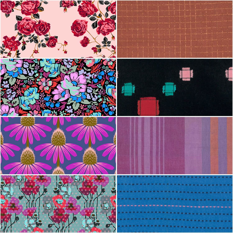 Berries Floral Retrospective Anna Maria Horner 8 Piece Fat Quarter Bundle