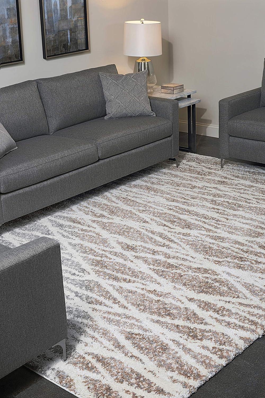 Amazon Com Park View By Bassett Harmony Rug 2 3 X 8 White Furniture Decor