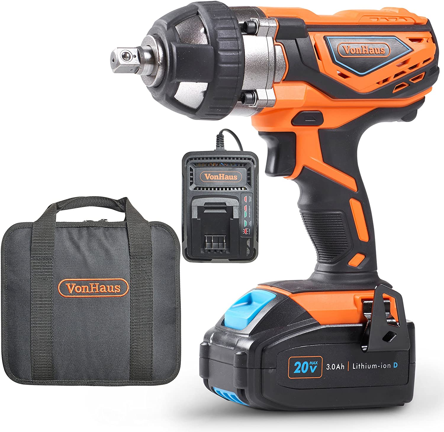 Cordless Drill Driver Lomvum 20V Power Drill with 2 Lithium Batteries, 1 Faster Charger, 2-Speed 3 8 Keyless Chuck, Magnetic Flexible Shaft,LED, Waist Bag, Compact Case, Extra 46pcs Accessories