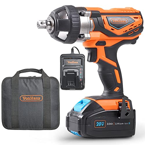 VonHaus 20V MAX Cordless 1 2 Impact Wrench Set High Torque