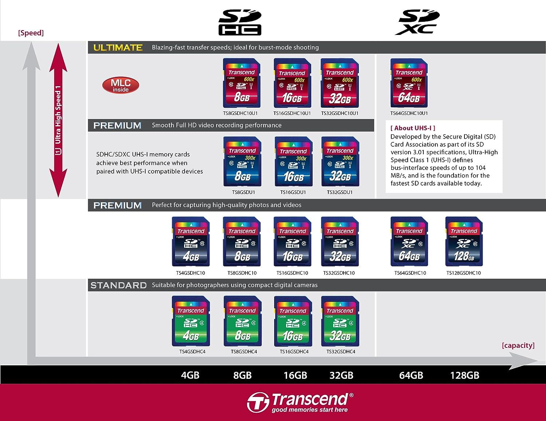 Transcend 4 Go Carte m/émoire SDHC Classe 4 TS4GSDHC4