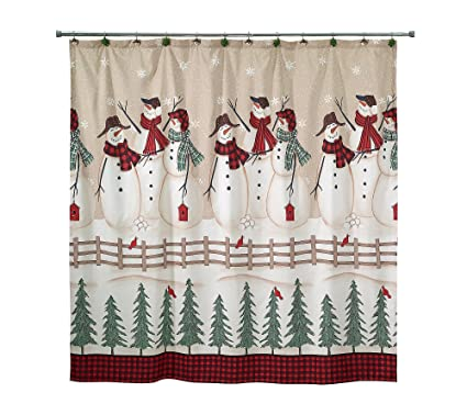 Image Unavailable Not Available For Color Avanti Snowmen Gathering Shower Curtain