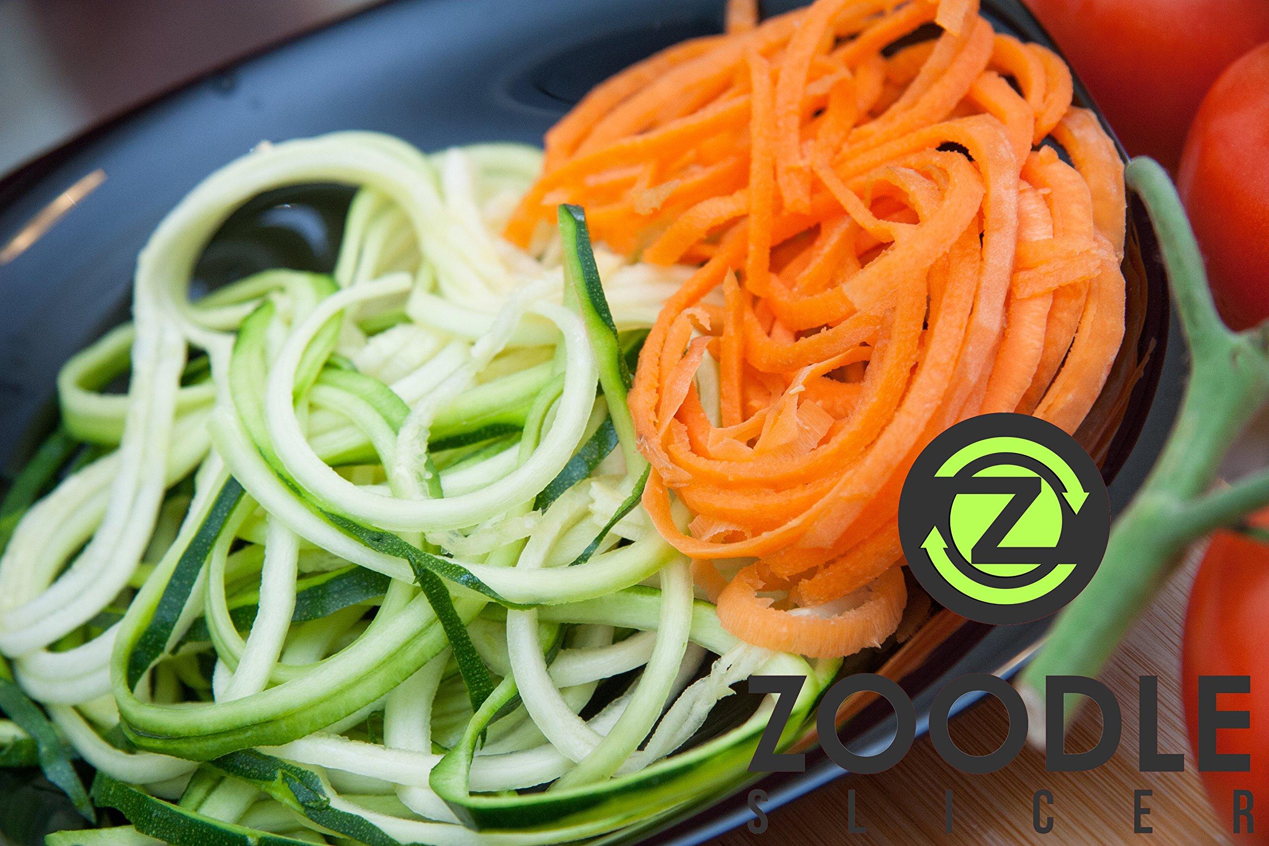The Original Zoodle Slicer - Complete Vegetable Spiralizer Spiral Slicer Bundle (With Cleaning Brush, Peeler & eBook) by Zoodle Slicer (Image #6)