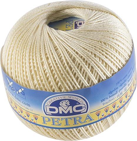 DMC Petra Ovillo, 100% algodón, Color Amarillo pálido, tamaño 3: Amazon.es: Hogar