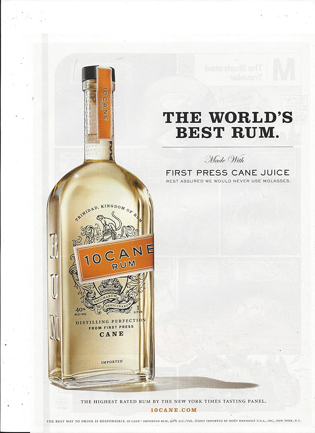 PRINT AD For 10 Cane Rum: The World's Best Rum