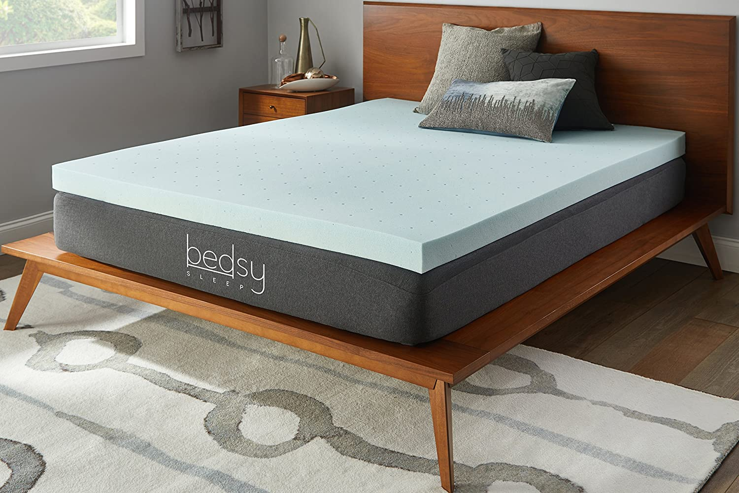 Bedsy Sleep 3 Gel Memory Foam Mattress Topper, Soft, Full