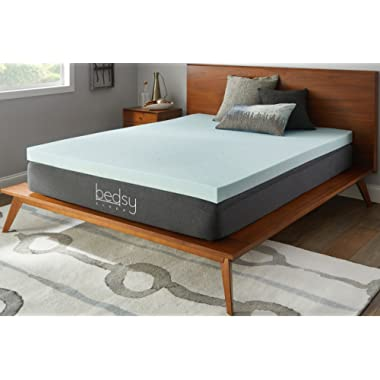 Bedsy Sleep 3  Gel Memory Foam Mattress Topper, Soft, Queen