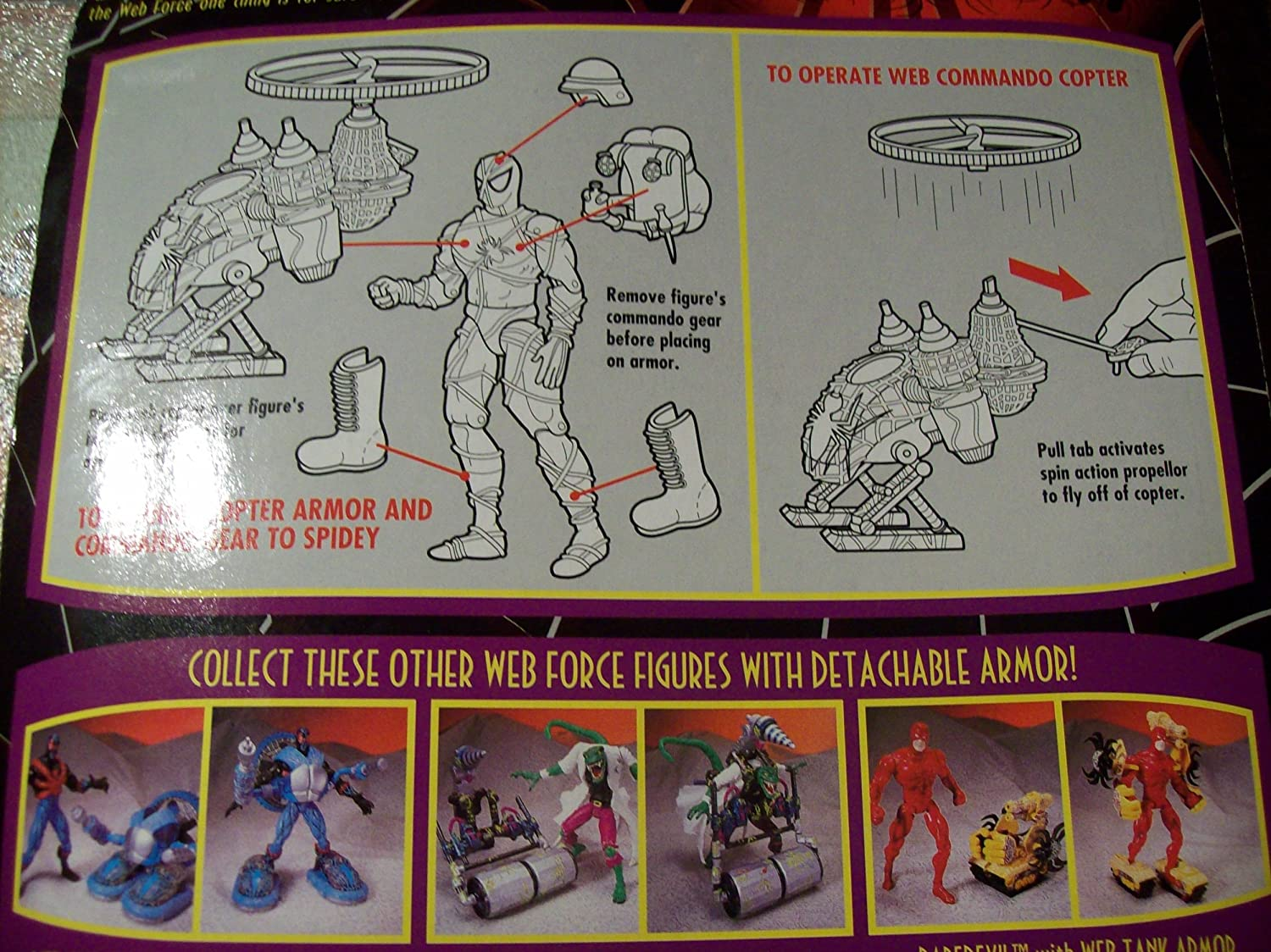 spider-man web force web commando spidey Free Delivery