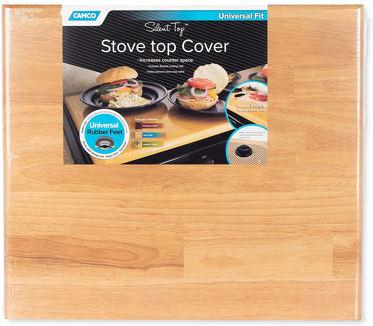 Sale price Camco Free Shipping New Oak 43521 Universal Stove Top Cover-19 x 1 by 3 2