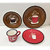 Tuscany Coffee 16 Piece Dinnerware Set