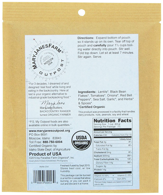 MaryJanesFarm Kettle Chili, 3.3 Ounce Bags: Amazon.com: Grocery ...
