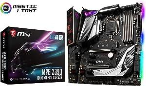 MSI MPG Z390 Gaming PRO Carbon LGA1151 (Intel 8th and 9th Gen) M.2 USB 3.1 Gen 2 DDR4 HDMI DP SLI CFX ATX Z390 Gaming Motherboard (Renewed)