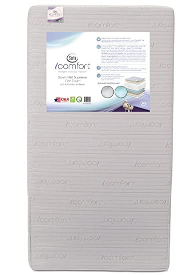 Com Serta Icomfort Dawn Mist Supreme Firm Memory Foam Crib And Toddler Mattress Waterproof Greenguard Gold Certified Natural Non Toxic Baby