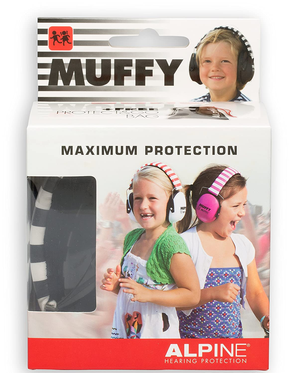 Alpine Muffy Smile Ear Muffs Yellow Smiley Face Ear Protectors for Kids