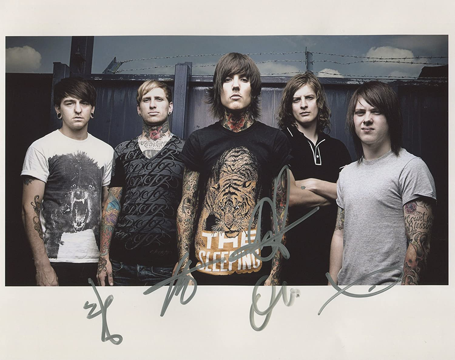 Bring Me The Horizon SIGNED Photo 1st Generation PRINT Ltd 150 + Certificate (1) -