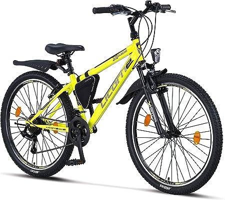 Licorne Bike Premium - Bicicleta de montaña para niña, niño, hombre y mujer, cambios Shimano de 21 velocidades