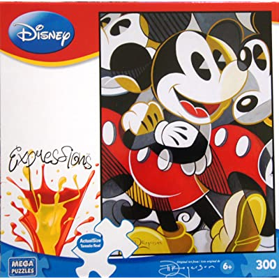 Disney Expressions Mousing Around Disney Fine Arts by Tim Rogerson 300 Piece Puzzle: Toys & Games