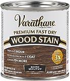 Varathane 262025 Premium Fast Dry Wood Stain, Half Pint, Dark Walnut