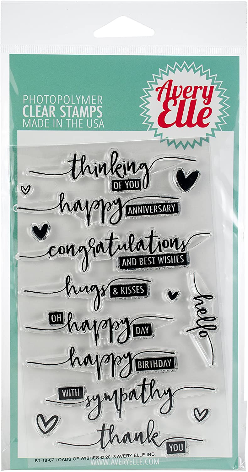 """Avery Elle Clear Stamp Set 4""""X6"""" Loads Of Wishes by Amazon"""