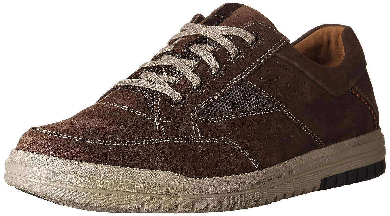 Dark Brown Nubuck Clarks Men's UnRhombus Go Loafers