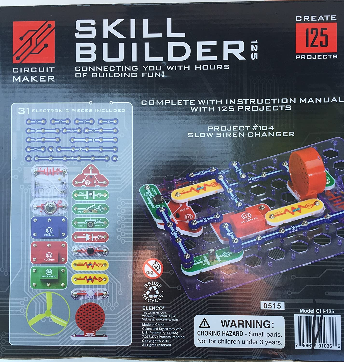 Elenco Circuit Maker Skill Builder Toys Games Electronic Snap Circuits Pro Kit Electronics Handson Curriculum