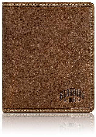 """Klondike 1896 Cartera de piel auténtica """"Finn"""" para hombres, cartera de piel"""