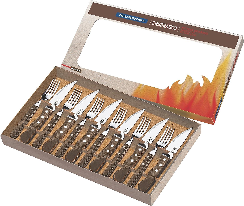 Tramontina 29899/239 Barbecue Set - Light Black (12-Piece)