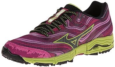 hot sale online 886d2 33be6 Mizuno Women s Wave Kazan Trail Running Shoe, Very Berry Black, ...
